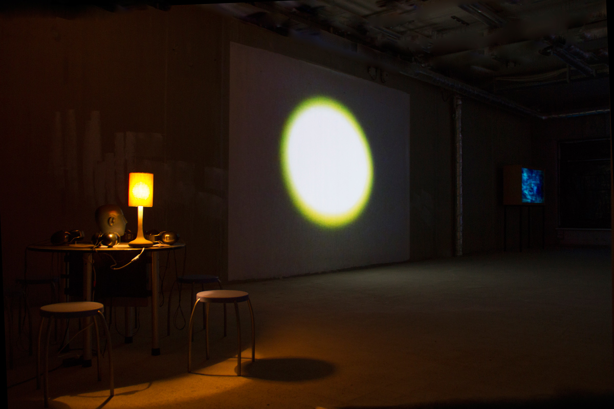 interactive installation, beamer projector and video camera