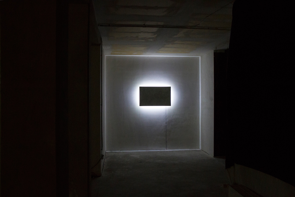 Screen shot, view of the installation at Gape-02, Plateau gallery, Berlin